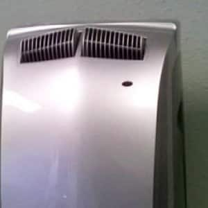 Portable air conditioner detail