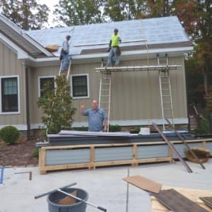 Owner David Logue says he enjoys helping homeowners exceed their home improvement goals. (Photo courtesy of Metal Works & Improvements)