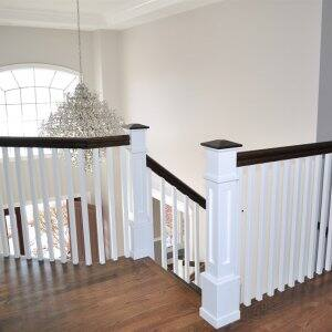 White Wood Staircase Foyer