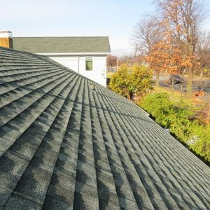 An inspection of your roof includes checking the condition of the shingles, flashing and chimney work, as well as looking for leaks. (Photo courtesy of Angie's List member Kirk L. of New York)