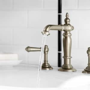 Kohler Faucet Running In Bathroom. Plumbing