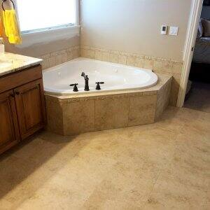 Bathroom With Radiant Heat Flooring