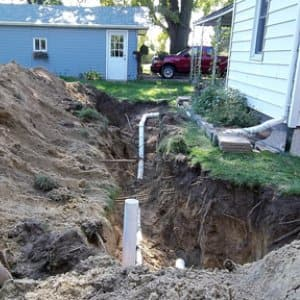sewer line installation (Photo by Angie's List)
