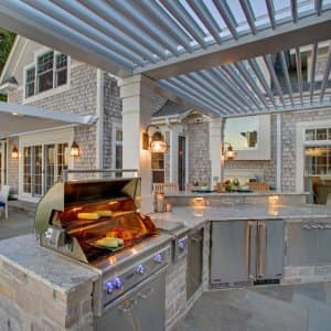 Pergola Over An Outdoor Kitchen
