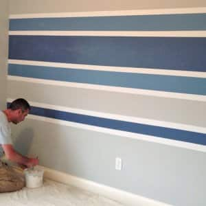 paint stripes on a wall