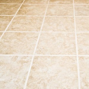 Floor tile and grout
