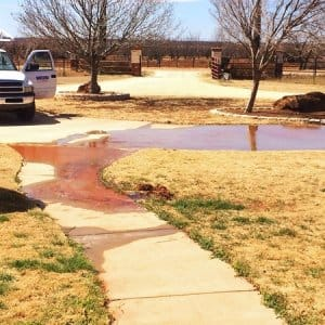 A broken pipe is a headache on any day. If it happens on a major holiday, who is available for repairs? (Photo courtesy of Angie's List member James T., of Abilene, Texas)
