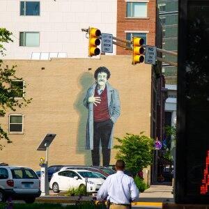 Kurt Vonnegut mural in Indianapolis