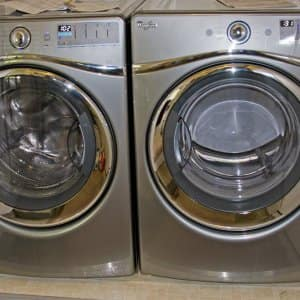 stainless steel front loader washer dryer