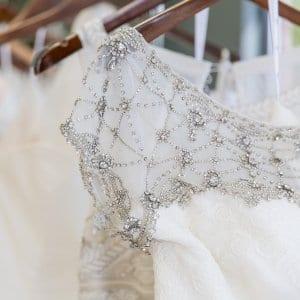 wedding dress shoulder with detail