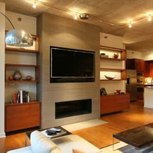 white walls in living room
