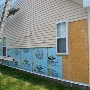 storm damaged siding