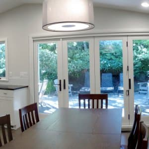 Remodeled kitchen and dining room