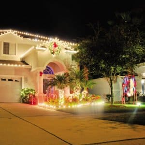 Awe your neighbors with some spectacular light displays for the holidays. (Photo courtesy of Garden Gnome)