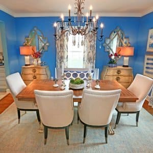 A dining room rug can pull your look together, if you know how to style one. (Photo by Frank Espich)