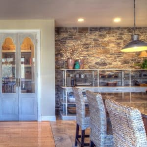 Adding stone to your remodel can make a big impact on your overall design. (Photo courtesy of Moss Building & Design)