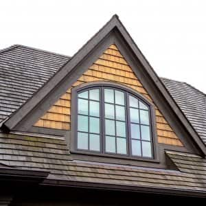 Cedar wood roof shingles