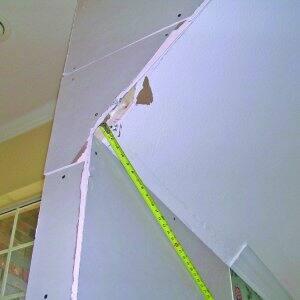a bad sheetrock drywall install