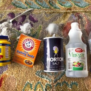 home cleaning supplies like baking soda (Photo by Frank Espich)