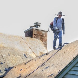 a roofing project