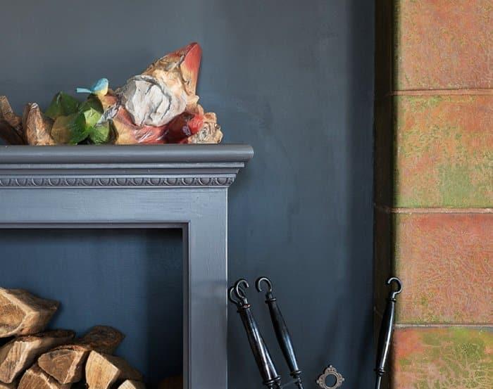 gnome on fireplace mantel
