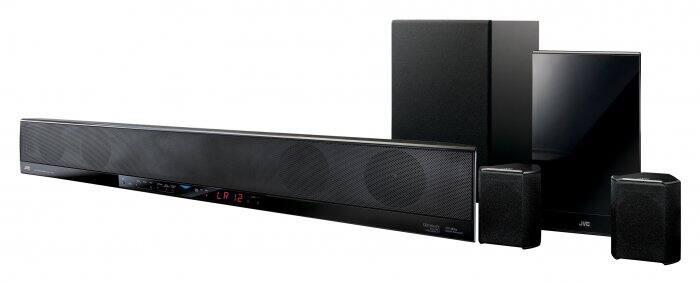 JVC Dual Wireless Soundbar Home Theater System TH-BA3.