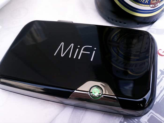 A Novatel MiFi mobile hotspot.