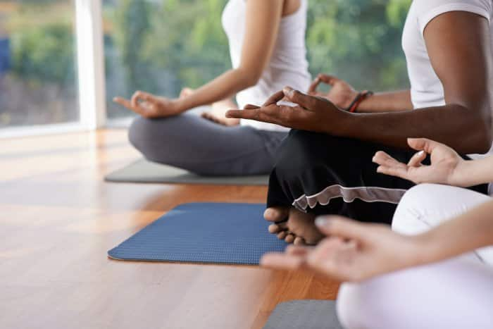 participants at yoga class