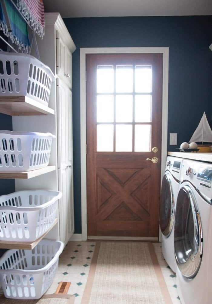 Laundry Room Refresh Cramped Laundry Corridor Transforms