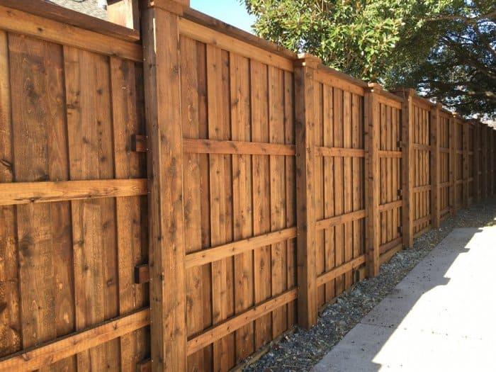 Cedar Fence Staining