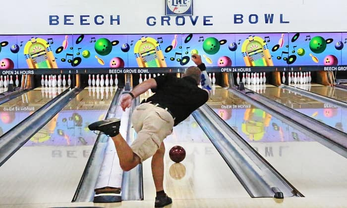 A bowler at Beech Grove Bowl
