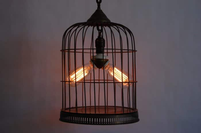 Birdcage Lamp - Creative Lighting Idea