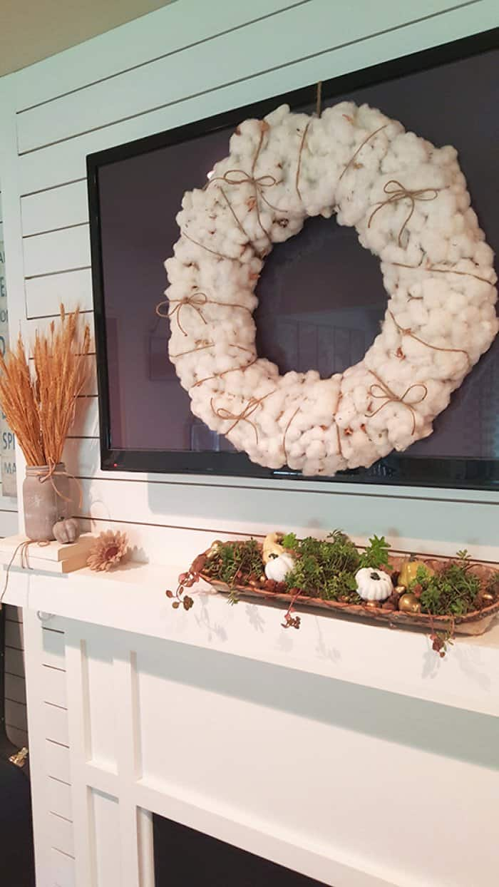 cotton wreath from Home Goods