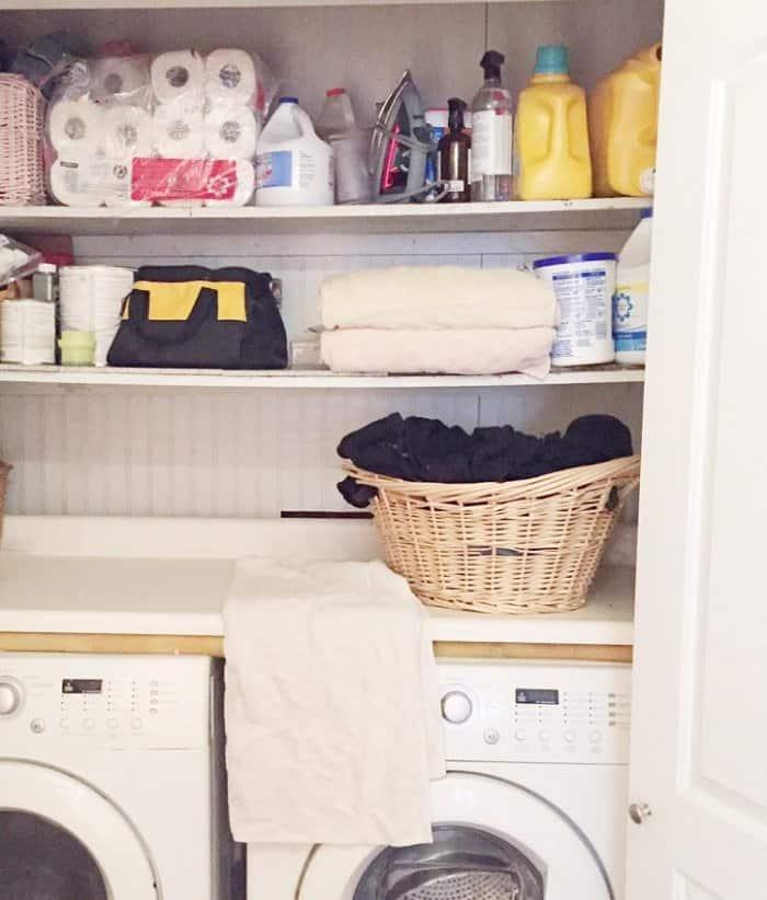 DIY Expert Courtney Allisonu0026#039;s Laundry Room Refresh Before