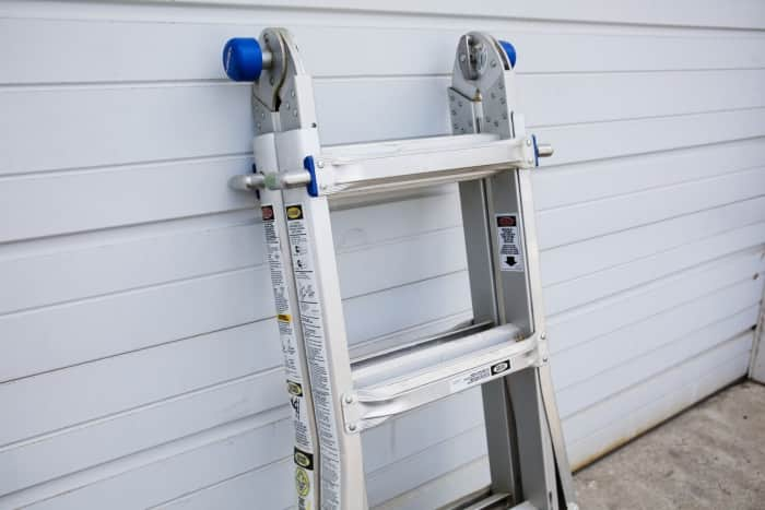 folding step ladder for DIY painting or cleaning gutters (Photo by Eldon Lindsay)