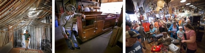 collection of photos of antique stores