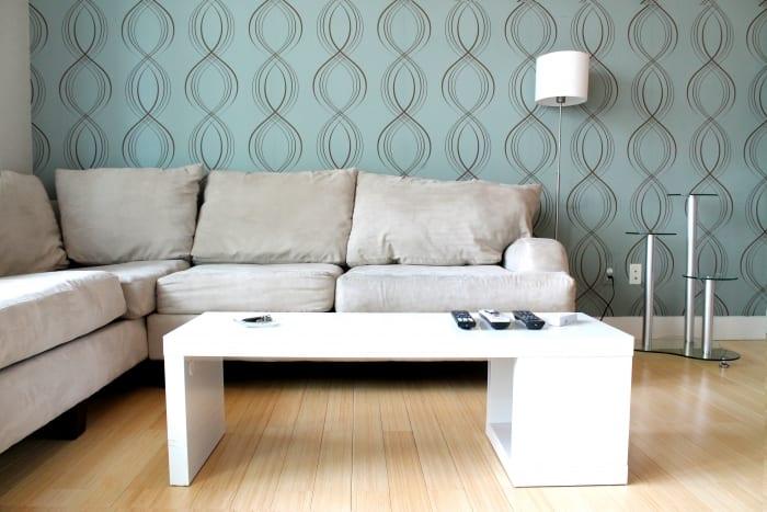 trendy wallpaper accent wall