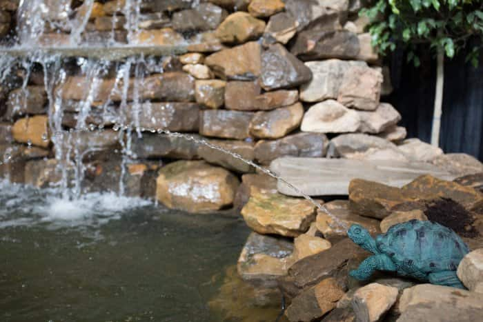 Small fountain features can be added to a pond for an extra touch. (Photo by Eldon Lindsay)