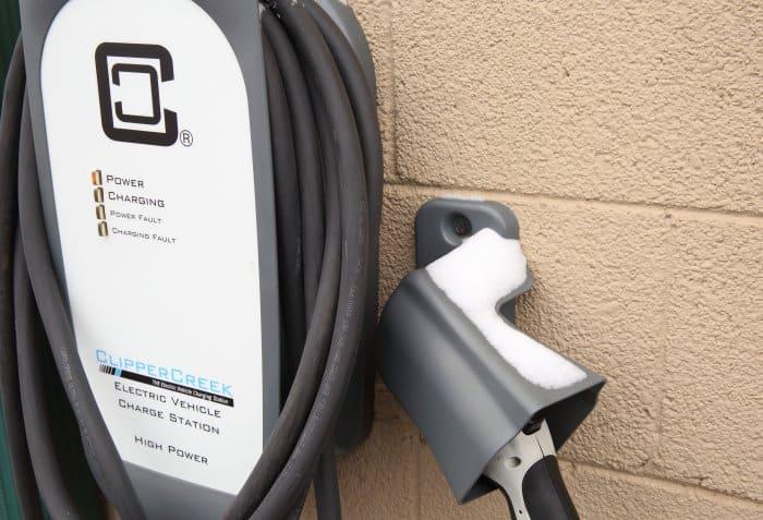 240-volt electric car charging station