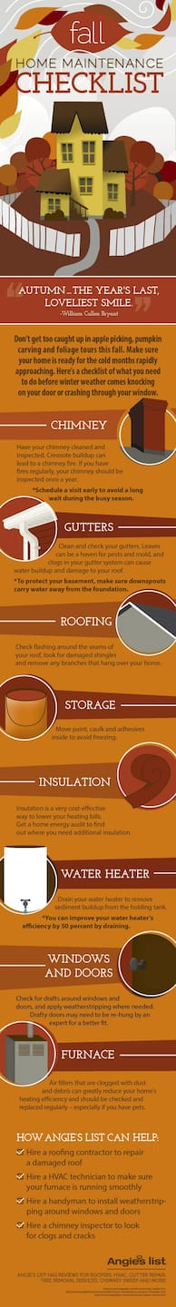Fall checklist infographic