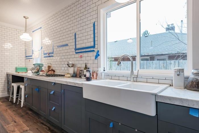 tile walls kitchen