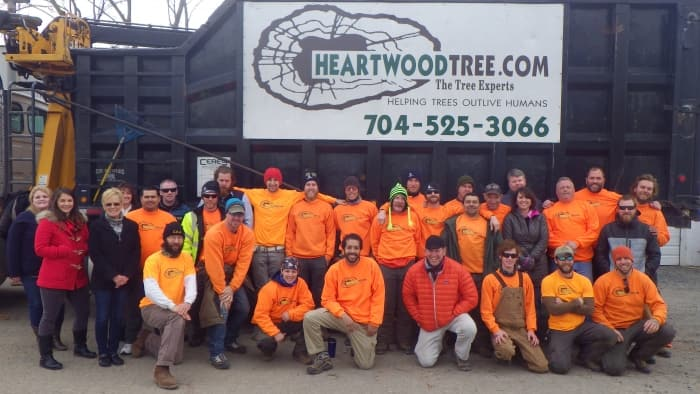crew of Heartwood Tree Service