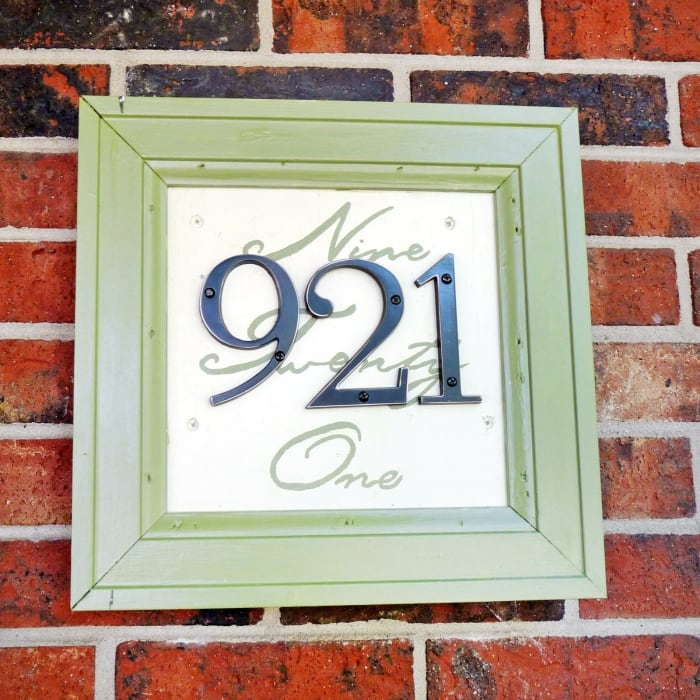 framed house numbers