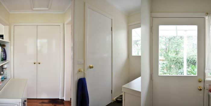 To Give The Space A Personality Boost I Added Some Basic Molding Cupboard And Bathroom Doors Do This Trimmed Pine Fit Using 45