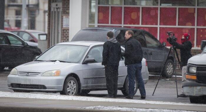 Tom Lange confronts locksmith