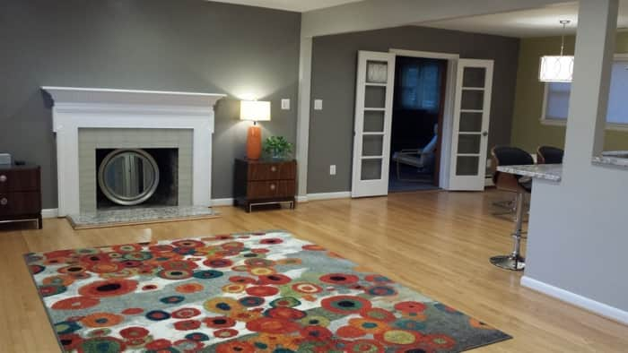 living room with open concept