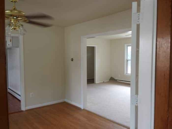 living room with separating walls