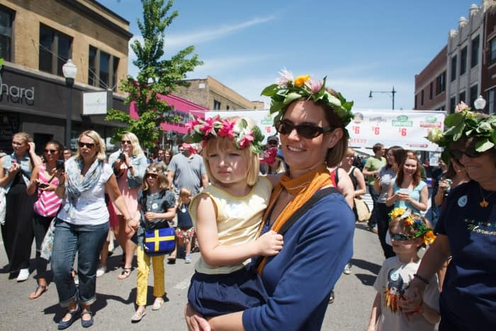 This year will mark Andersonville's 50th annual Midsommarfest, a neighbhorhood celebration that kicks off the summer festival season. (Photo courtesy of the Andersonville Chamber of Commerce)
