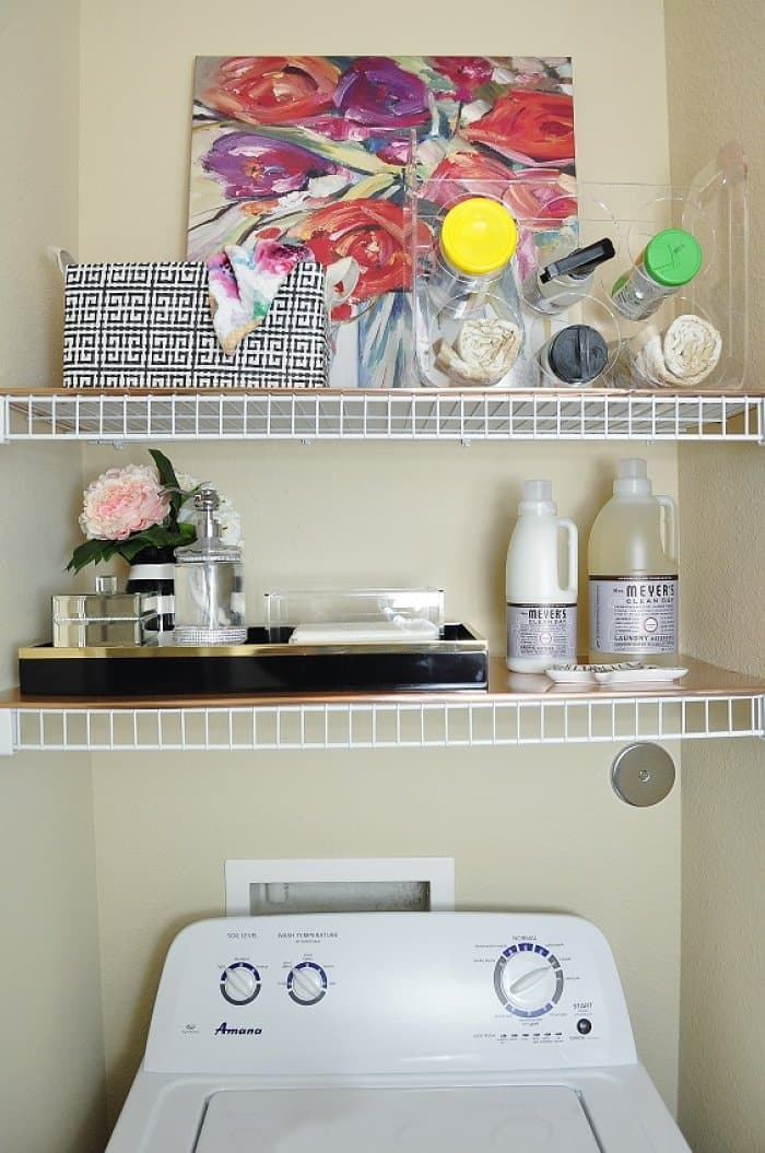 Apartment Laundry Room Refresh Gets a Pop of Color | Angie's