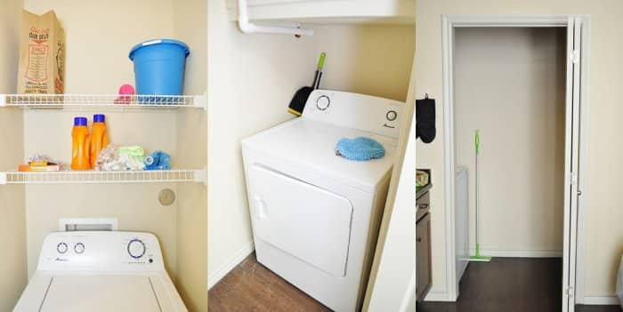 Laundry Room Refresh: Apartment Laundry Room Gets a Pop of ...